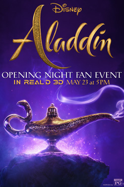 Aladdin 3D: Opening Night Fan Event poster