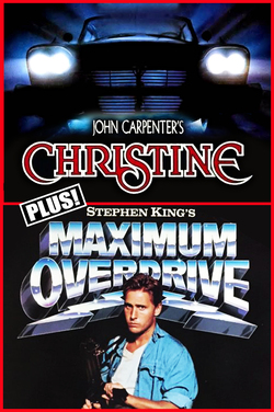 HF19: Christine (1983)/Maximum Overdrive (1986) poster