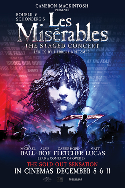 Les Miserables The Staged Concert poster
