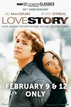 Love Story (1970) 50th Anniversary TCM poster