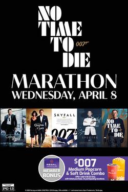 No Time to Die Marathon poster