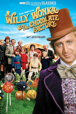 Willy Wonka & Chocolate Factory 50th Anniv TCM poster