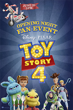 Toy Story 4 - Opening Night Fan Event poster