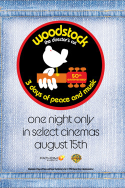 Woodstock (1970) 50th Anniversary Director's Cut poster